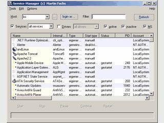 Verwaltung von Windows-Diensten und Treibern.