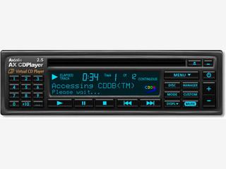 CD Player im Look eines Auto CD Players mit roter, grüner und gelber Anzeige.