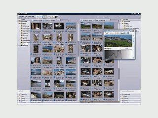 Software zur Verwaltung digitaler Bildbestände inklusive Passwortschutz.