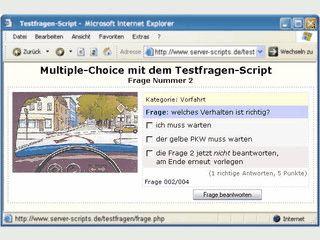 PHP-Scripts zur Durchführung eines Online-Quiz, Wissenstest usw.