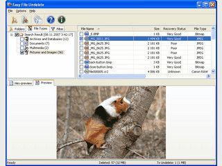 Wiederherstellung verlorener Dateien oder Ordner.