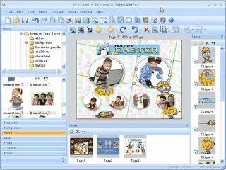 Software zum Erstellen von Fotocollagen.