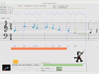 Singen mit visuellem Feedback lernen.
