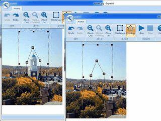 Entfernen Sie unerwünschte Objekte aus Digitalfotos.