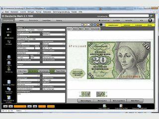 Verwaltungsprogramm für Ihre Banknotensammlung