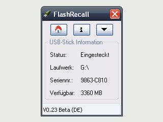 Erinnert Sie daran Ihren USB-Stick abzuziehen.