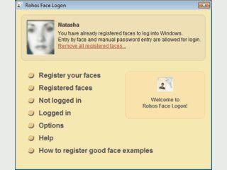 Anmeldung am Windows PC durch Gesichtserkennung.