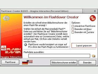 Erstellt ganz einfach einen Screensaver aus einer Flash Datei.