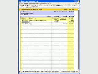 Haushaltsbuch auf Basis einer Excel-Tabelle.