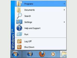 Das Startmenü von Windows XP und seinen Vorgängern auch für Windows 7