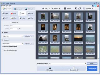 Konvertieren von Bildern, hinzufügen von Wasserzeichen und Effekten.
