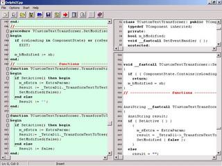 Quellcode-Übersetzung von Object-Pascal (Delphi) nach C++