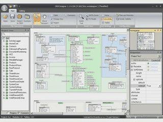 Werkzeug zur visuellen Entwicklung von relationalen Datenbanken.