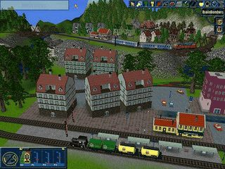 Eisenbahn-Simulation zur Planung einer virtuellen Platte.