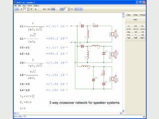 Kalkulationssoftware für wissenschaftliche Berechnungen.