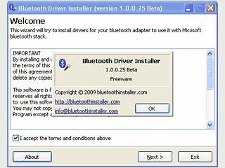 Installiert und konfiguriert den generischen Bluetooth-Treiber von Microsoft