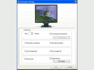 Videos und MP3 Dateien als Bildschirmschoner verwenden.