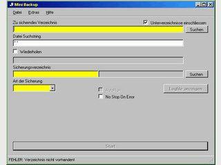 Einfache Software zur Datenspiegelung.
