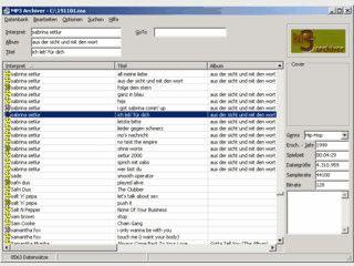 Software zur Verwaltung Ihrer MP3 Sammlung.