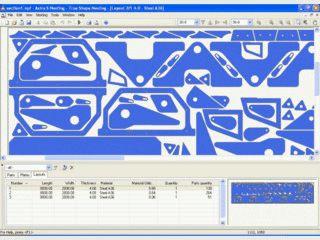 Software zur Zuschnittoptimierung für CNC-Scneidemaschinen