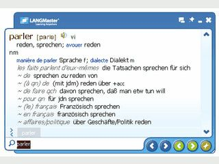 Deutsch-Französisch, Französisch-Deutsch Wörterbuch mit Sprachausgabe.