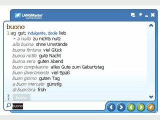 Wörterbuch für Deutsch-Italienisch, bzw. Italienisch-Deutsch mit Sprachausgabe.