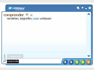 Spanisch-Deutsch-Spanisch Wörterbuch mit Sprachausgabe.