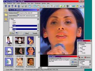 Bilddatenbank in der sich Bilder in Ordner sortieren lassen.