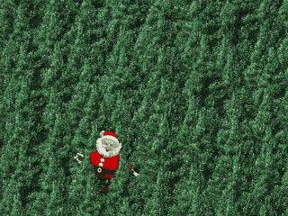 Santa Claus tollt sich auf Ihrem Desktop herum.