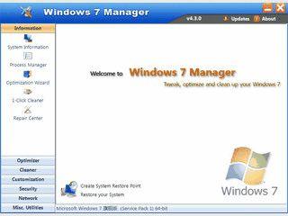 Optimierung und Tweaking-Utilitie für Windows 7