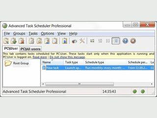 Startet Programme oder Dokumente anhand des Termins oder Ereignissen.