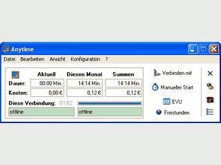 Gebührenzähler zur Berechnung der Internetgebühren per DFÜ und FRITZ!web