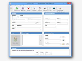 Adressenverwaltung mit integrierter Emailfunktion und Browser.