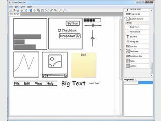 Virtuelles Zeichenbrett zum Erstellen von so genannten Wireframes.