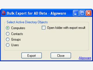 Exportiert Daten aus dem Microsoft Active Directory.