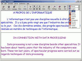 Automatische Üersetzung von Texten über das Web.