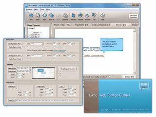 Grafische Benutzeroberfläche um Tooltips auf Basis von jQuery zu erstellen.