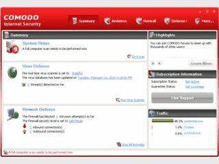 Sicherheits-Suite aus Echtzeit-Virenschutz und Firewall.