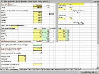 Übersicht über die täglichen Arbeitszeiten in einer Excel Tabelle speichern.
