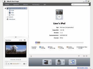 Videos, Audio und Bilder auf den iPod übertragen.