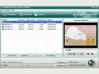 Konvertiert Videos zum Abspielen auf Video- und Audio-Playern