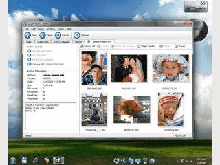 Vom Macintosh bekannte Software für den Umgang mit Archivdateien.