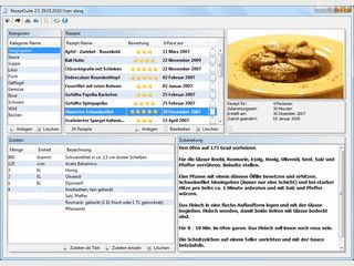 Software zum einfachen Verwalten von Rezepten.