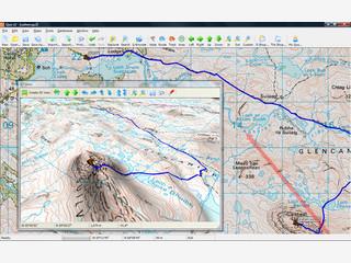 Erstellen, Bearbeiten und Übertragen von Wegpunkten, Routen und Tracks.