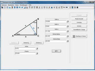 Flächen- und Körperberrechnungsprogramm mit animierter Grafik.
