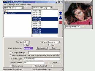 Software um Bildergalerien und Präsentationen für das Web zu erstellen.