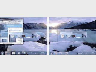 Erweitert virtuelle Bildschirme um die Taskleiste mit verschiedenen Optionen.