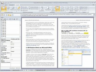 Umwandlung von Dokumenten aus MS Office in PDF, Integration in MS Office