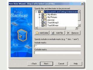 Backup mit ZIP Komprimierung. Sicherung auf FTP-Server oder DVD möglich.
