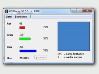 Zeigt die RGB-Farbwerte der aktuellen Mausposition an.